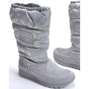 Coach Gray Snow Boots